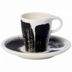 Puodelis Espresso su lėkštute