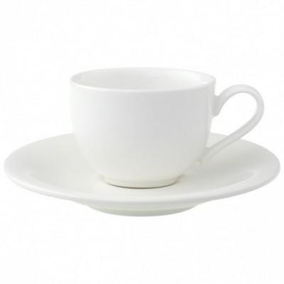Espresso puodelis su lėkštute