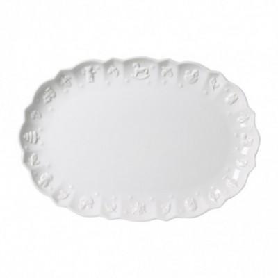 Ovali serviravimo lėkštė