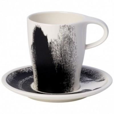 Puodelis Coffee su lėkštute